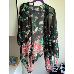 Other - Sheer floral kimono